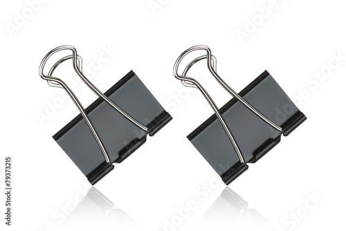 Fotografía Clip black for document or paper clip attachment