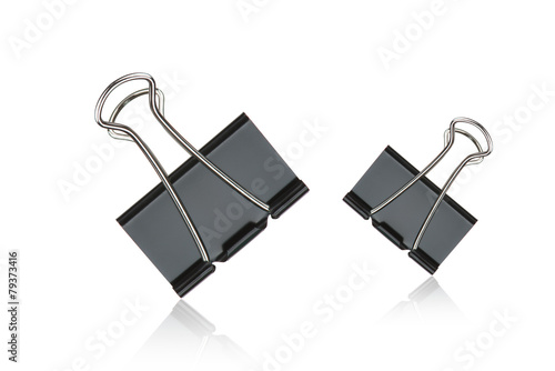 Fotomural  Clip black for document or paper clip attachment