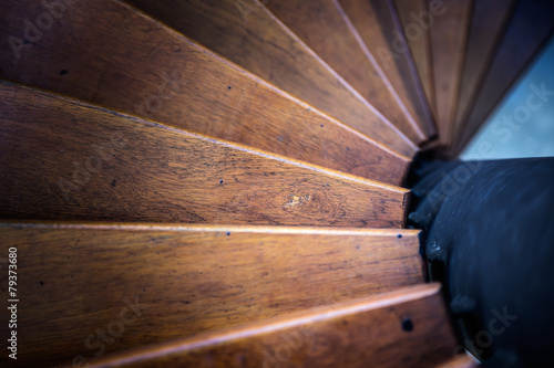 Photo Stands Stairs Spiral stair from house interior