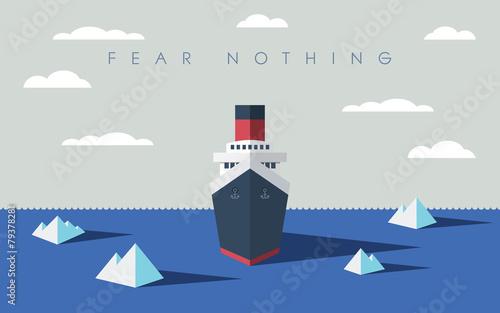 Risky adventure exploration business concept. Fearless explorer Wallpaper Mural