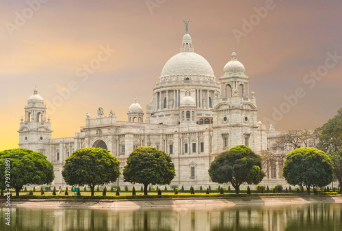 Victoria Memorial landmark in Calcutta (Kolkata) - India