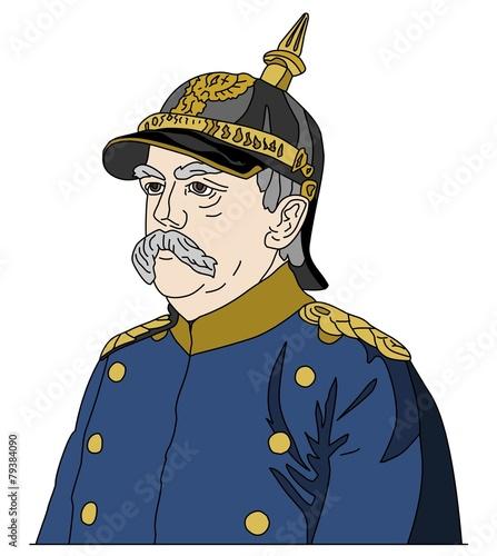 Canvas Otto von Bismarck, the Iron Chancellor