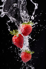 Naklejka fragole splash