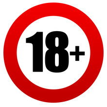 18  Age Restriction Sign.