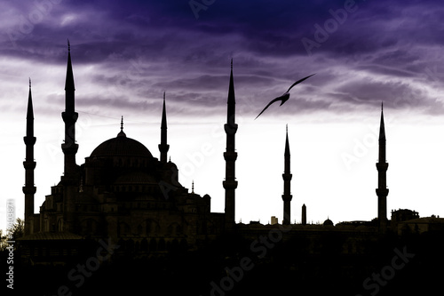 Poster Turquie Blue Mosque in Istanbul