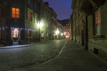 Obraz na PlexiMaisto nocą
