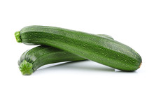 Zucchini Isolated On White Bac...