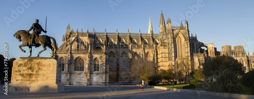 View of the famous landmark, Monastery of Batalha, Portugal. Wallpaper Mural