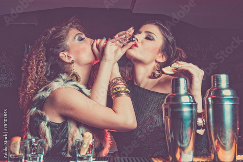 girls drinking in a club Poster