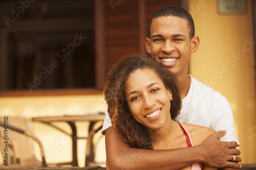 Fotografie, Obraz  Happy African American Couple