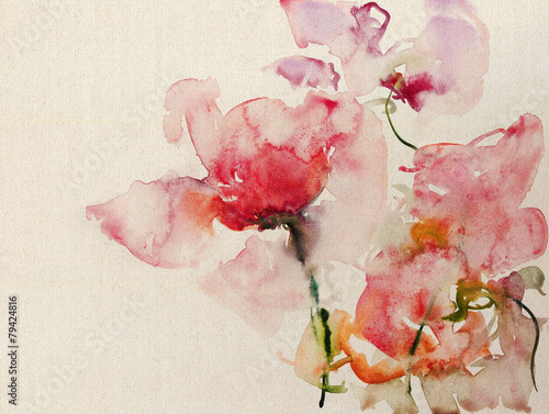 kwiaty-akwarelowe-plotno