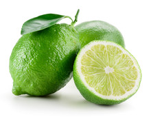 Lime. Group Of Fruit Isolated ...