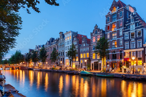 Canvas Prints Amsterdam Amsterdam's canals.