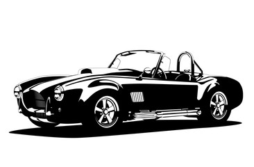 FototapetaClassic sport silhouette car AC Shelby Cobra Roadster