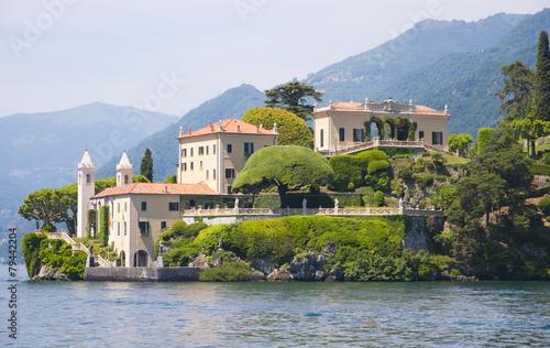 The Villa del Balbianello on Lake Como, Italy Tableau sur Toile
