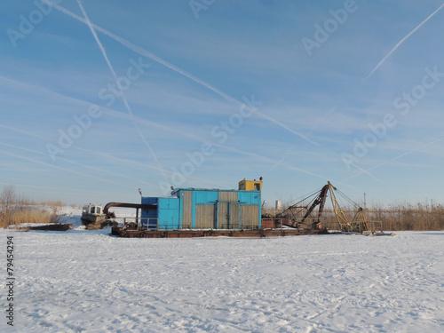 Fotografia, Obraz  river suction dredge