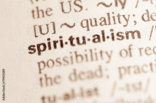 Dictionary definition of word spiritualism Tablou Canvas