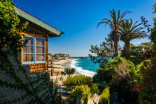 House And View Of Victoria Beach, In Laguna Beach, California.