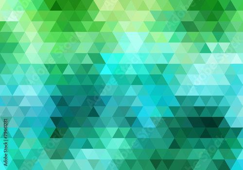 Fotografie, Obraz  abstract geometric vector background, triangle pattern