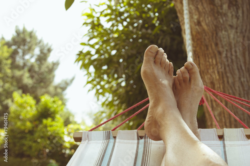 Fotografia  summer vacation in the hammock