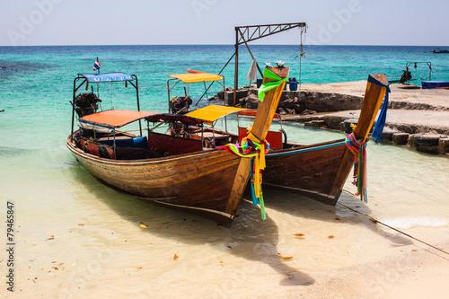 Foto  tropical thai boats
