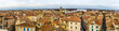 View of the old town of Arles from the Roman arena - France