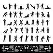 action people symbol set