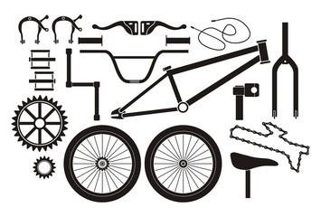 BMX parts - pictogram