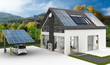 canvas print picture - Energieversorung am Einfamilienhaus