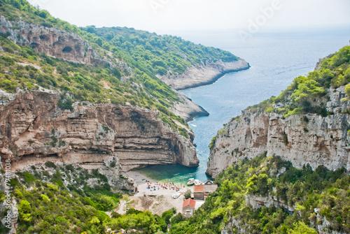 Fotografie, Obraz  Beautiful bay on Vis Island, Croatia