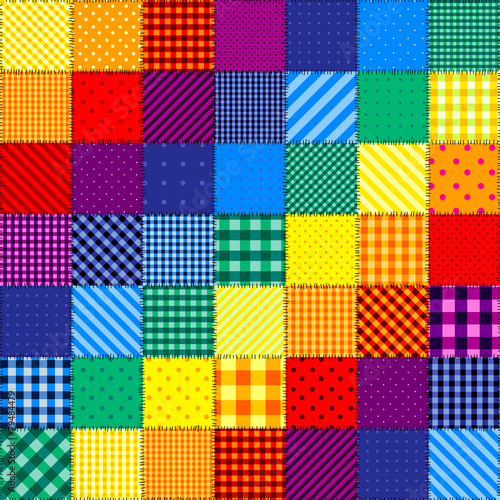 fototapeta na lodówkę Patchwork pattern of rainbow colors.