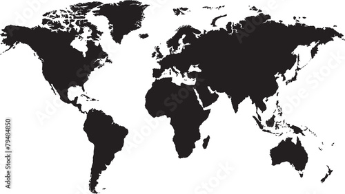 World map isolated on white background