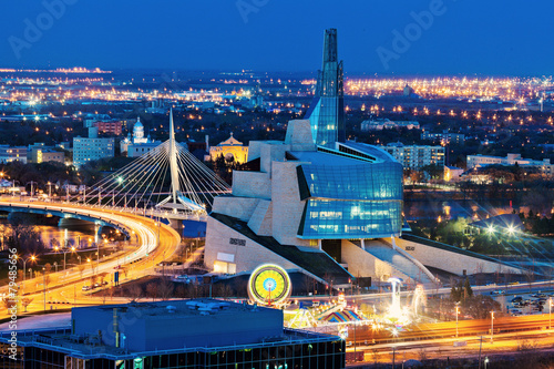 Foto op Plexiglas Canada Winnipeg panorama at sunset