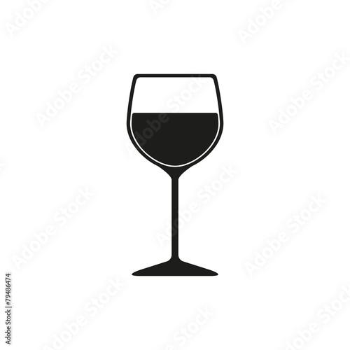 Fototapeta The wineglass icon. Goblet symbol. Flat obraz