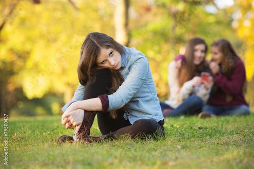 Stampa su Tela  Teens Talking About Girl