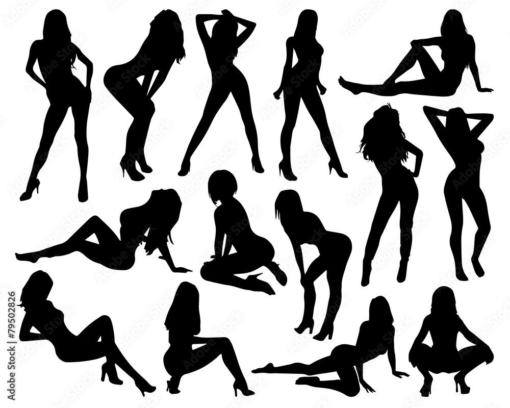 Fototapeta Sexy Woman Silhouettes
