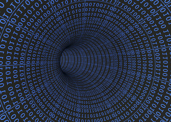 Tunnel of Binary Numbers - 3D