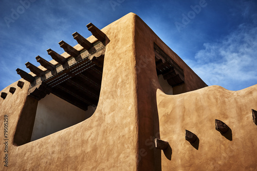 adobe building Canvas Print