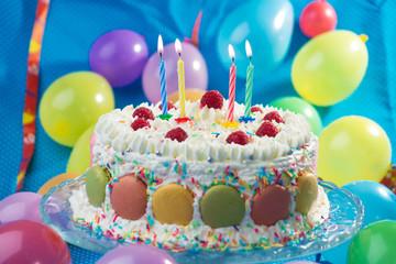 Obraz na Szkle Słodycze Birthday Cake