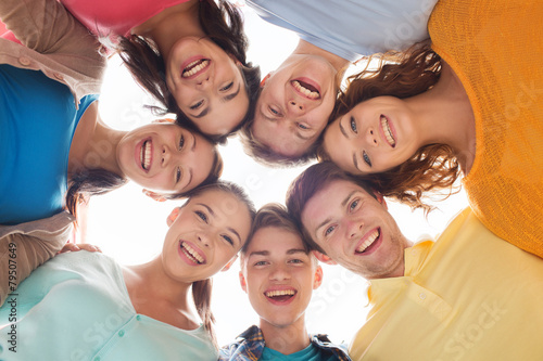 Fotografie, Obraz  group of smiling teenagers
