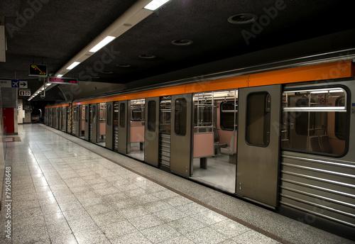 Fotografie, Obraz  metro station in athens