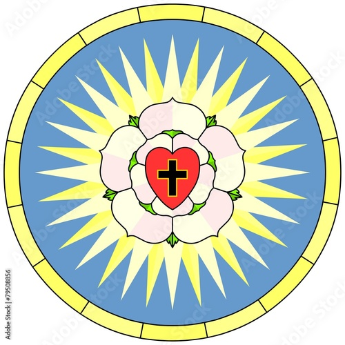 Luther Rose Christian Symbol Circular Window Buy This Stock