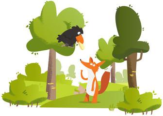 Naklejkamaître corbeau sur un arbre perché