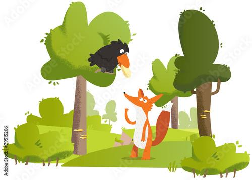 maître corbeau sur un arbre perché #79515206
