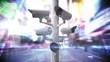 CCTV cameras over a busy road