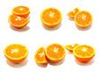 orange collage isolated on white