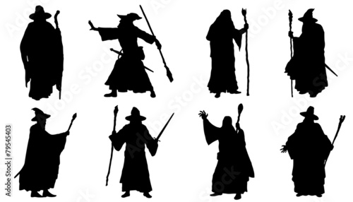 mage silhouettes Canvas Print