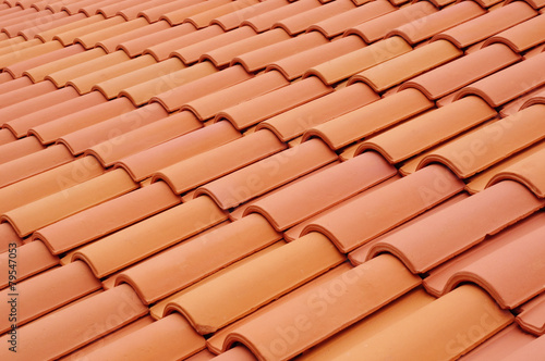 Fotografie, Obraz  New roof with ceramic tiles