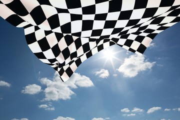 FototapetaComposite image of checkered flag
