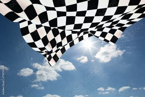 Composite image of checkered flag - 79554009